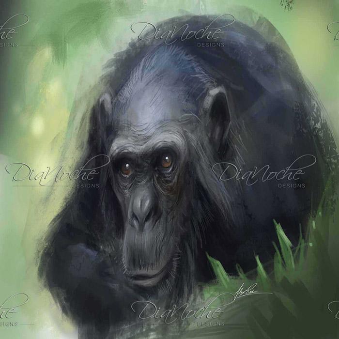 DiaNoche Designs Artist | Alex Ruiz - Chimpanzee