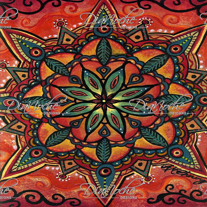 DiaNoche Designs Artist | Ann-Marie Cheung - Fiery Mandala 2