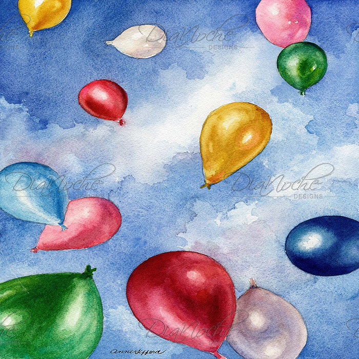 DiaNoche Designs Artist | Anne Gifford - Balloons In Flight