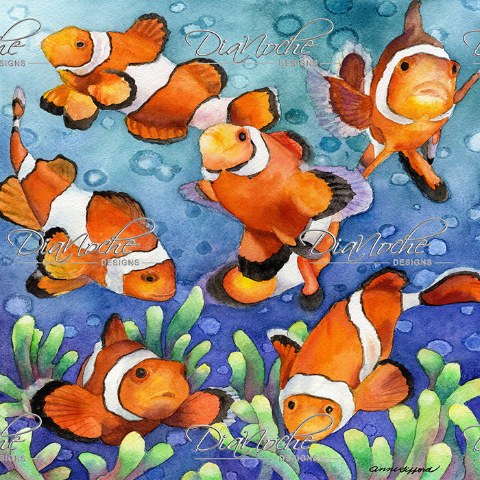 DiaNoche Designs Artist | Anne Gifford - Clown Fish