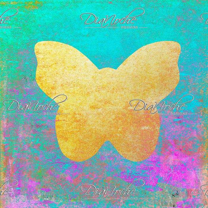 DiaNoche Designs Artist   China Carnella - Aqua Butterfly