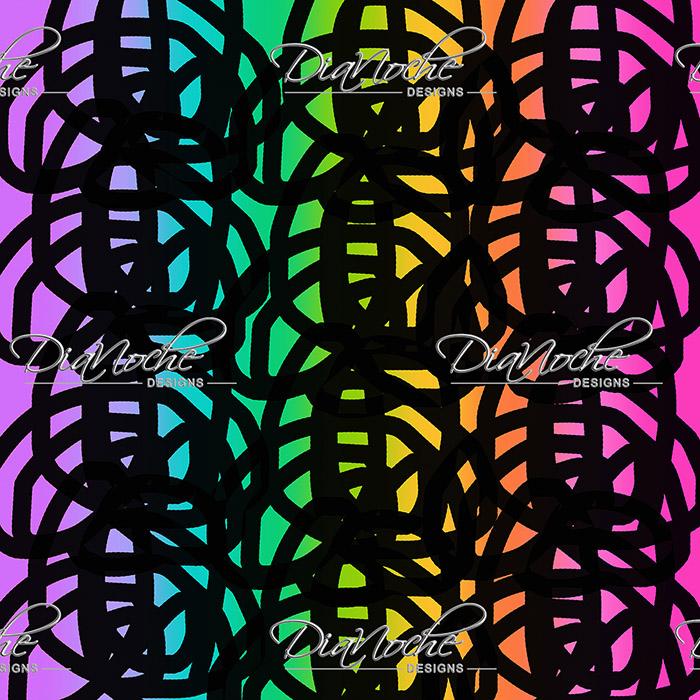 DiaNoche Designs Artist   China Carnella - Black Rainbow
