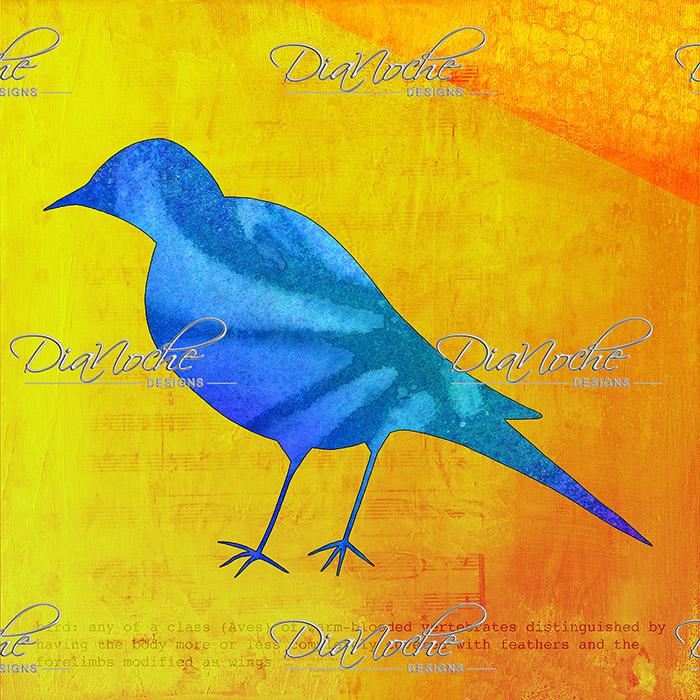 DiaNoche Designs Artist   China Carnella - Blue Bird
