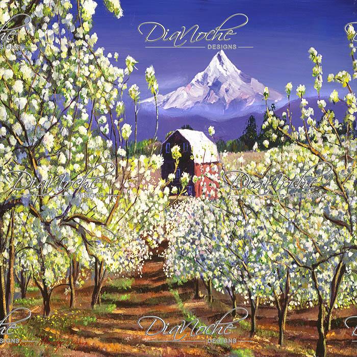 DiaNoche Designs Artist | David Lloyd Glover - Appleblossoms Mount Hood