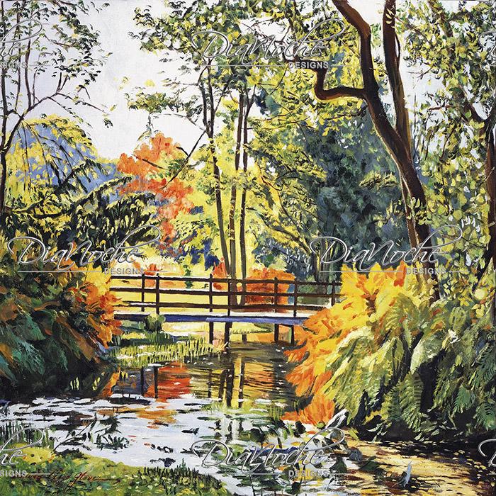 DiaNoche Designs Artist | David Lloyd Glover - Autumn Water Bridge