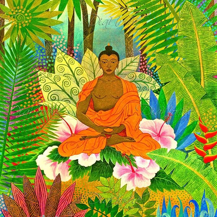 DiaNoche Designs Artist | Jennifer Baird - Buddha in the Jungle