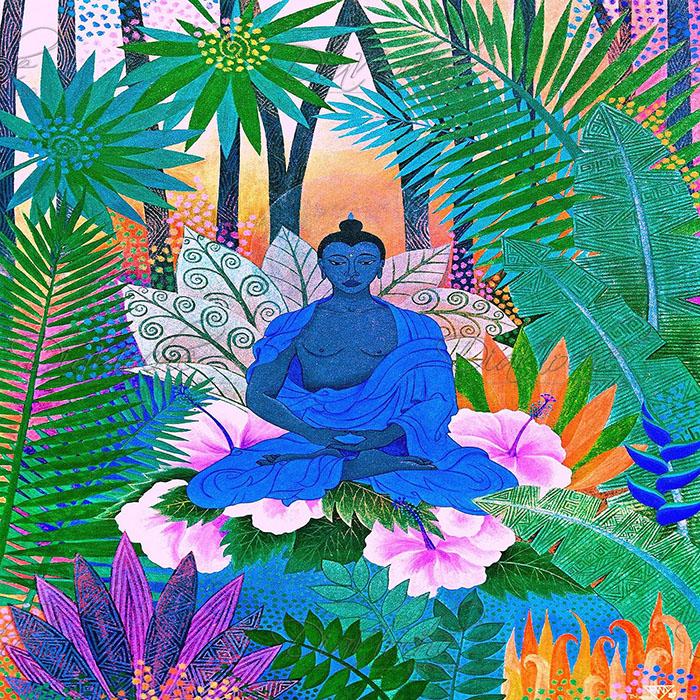 DiaNoche Designs Artist | Jennifer Baird - Buddha In the Jungle ll