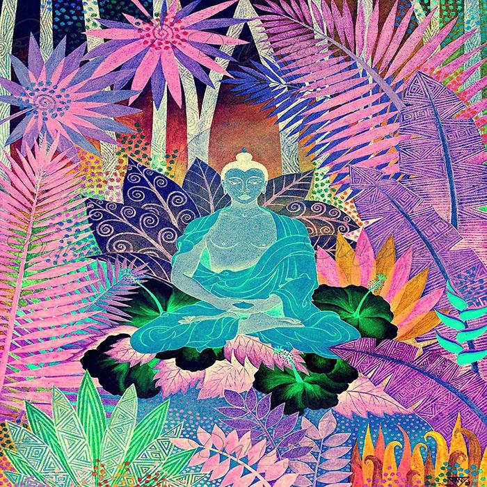DiaNoche Designs Artist | Jennifer Baird - Buddha In the Jungle lll