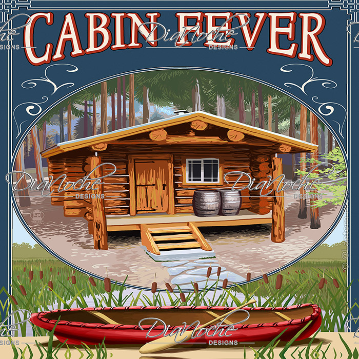 DiaNoche Designs Artist | Lantern Press - Cabin Fever