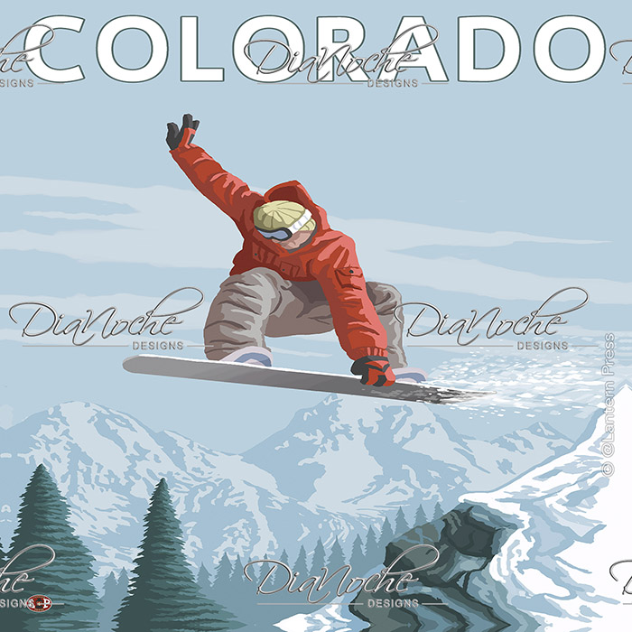 DiaNoche Designs Artist | Lantern Press - Colorado Snowboarder