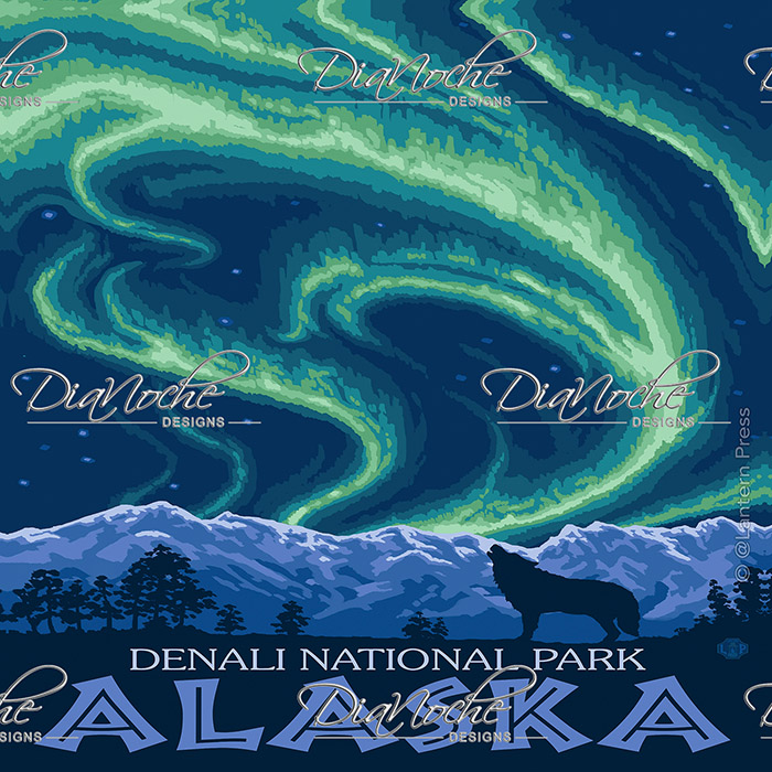 DiaNoche Designs Artist | Lantern Press - Denali National Park Alaska I