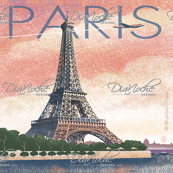 DiaNoche Designs Artist | Lantern Press - Eiffel Tower Paris