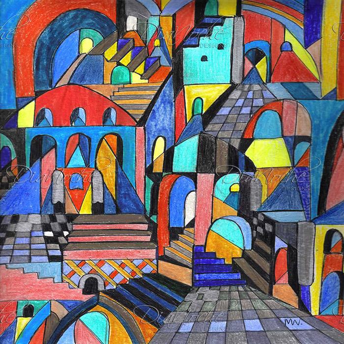 DiaNoche Designs Artist | Maeve Wright - Eschers Citidel