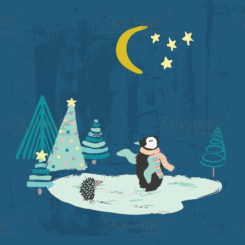 DiaNoche Designs Artist   Metka Hiti - Christmas Penguin