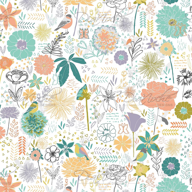 DiaNoche Designs Artist   Metka Hiti - Birds And Flowers