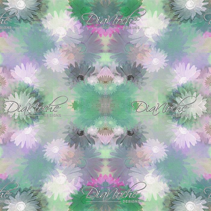 DiaNoche Designs Artist | Pam Amos - Daisy Blush 1 Emerald Pink