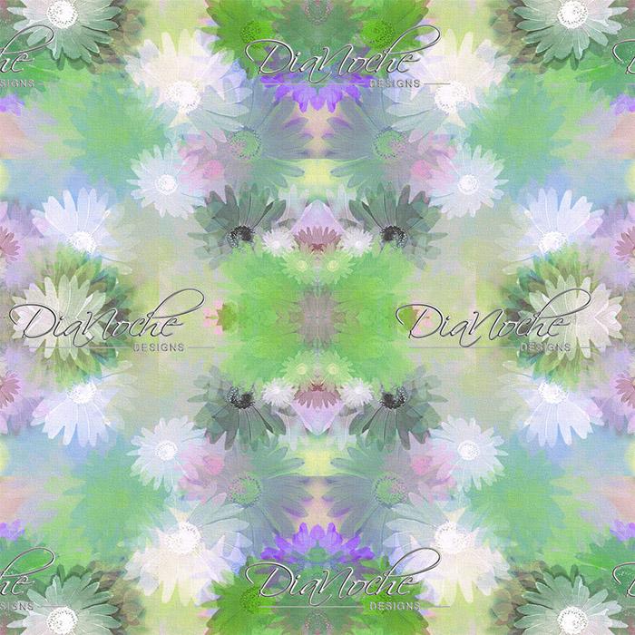 DiaNoche Designs Artist | Pam Amos - Daisy Blush 1 Mint