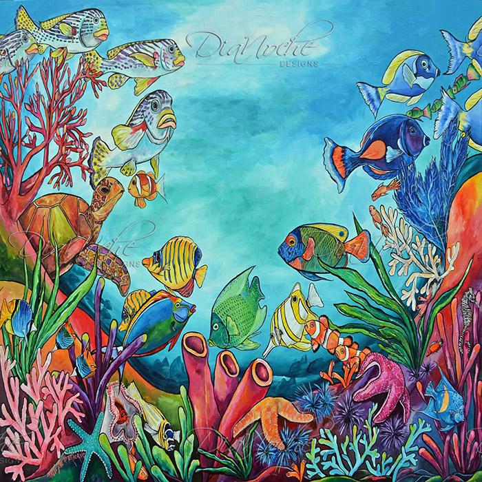 DiaNoche Designs Artist | Patti Schermerhorn - Coral Reef