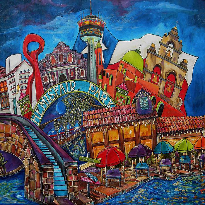 DiaNoche Designs Artist | Patti Schermerhorn - Downtown San Antonio Texas