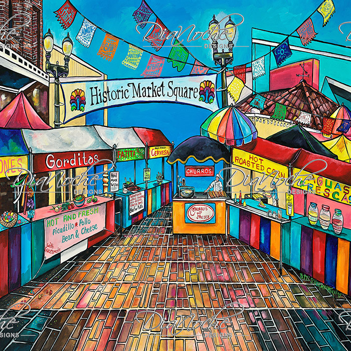 DiaNoche Designs Artist | Patti Schermerhorn - Historic Market Square
