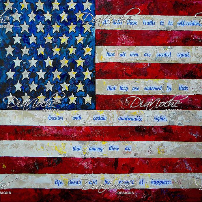 DiaNoche Designs Artist | Patti Schermerhorn - I Believe USA