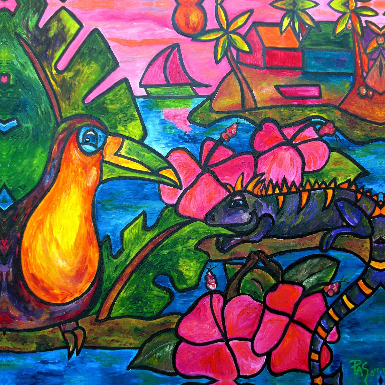DiaNoche Designs Artist | Patti Schermerhorn - Iguana Eco Tour