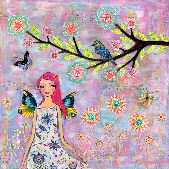 DiaNoche Designs Artist | Sascalia - Butterfly Fairy