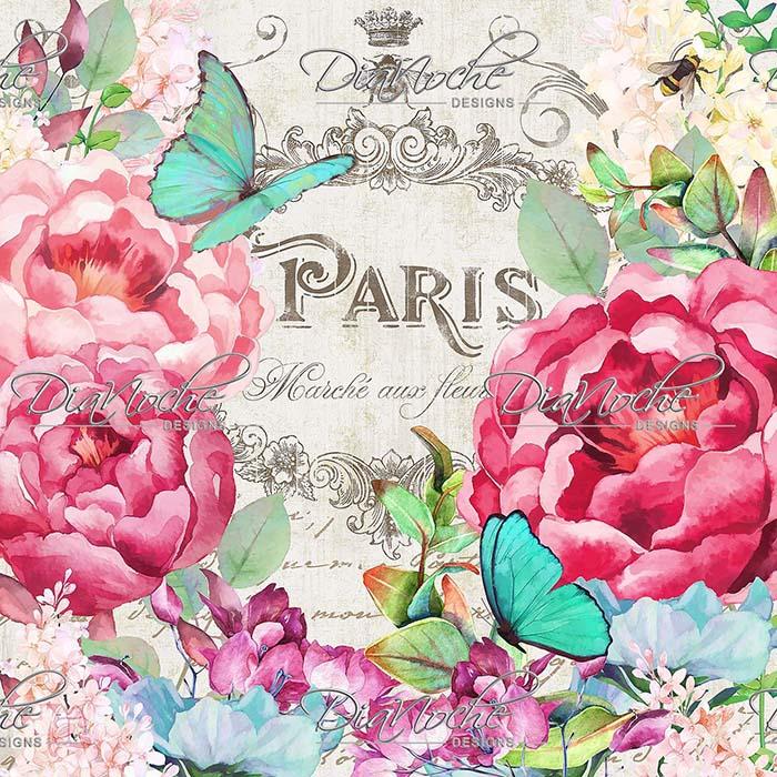 DiaNoche Designs Artist | Tina Lavoie - Paris Flower Market 2